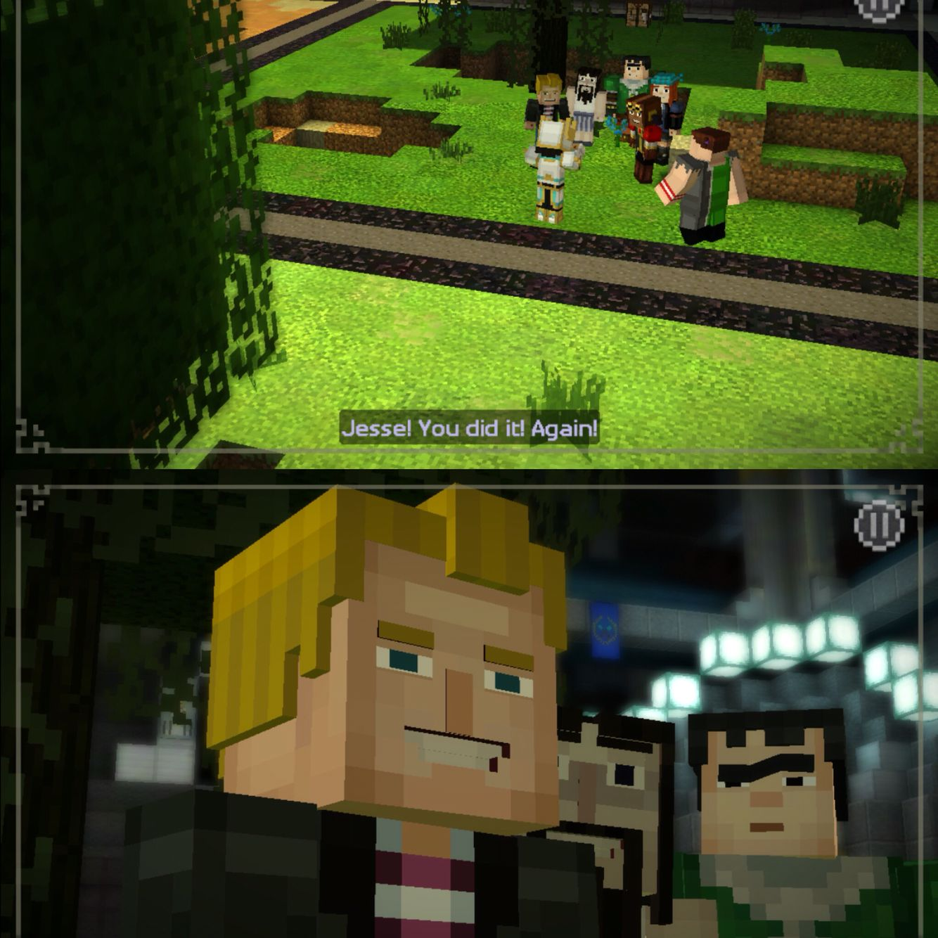 Minecraft Story Mode Episode 8 Look At That Flirty Face Tho Xd And Axel Be Like Whut Minecraft Memes Minecraft Funny