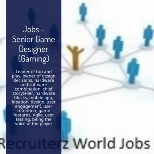 Senior Game Designer Hardware Software Jobs Londonjobs Gaming