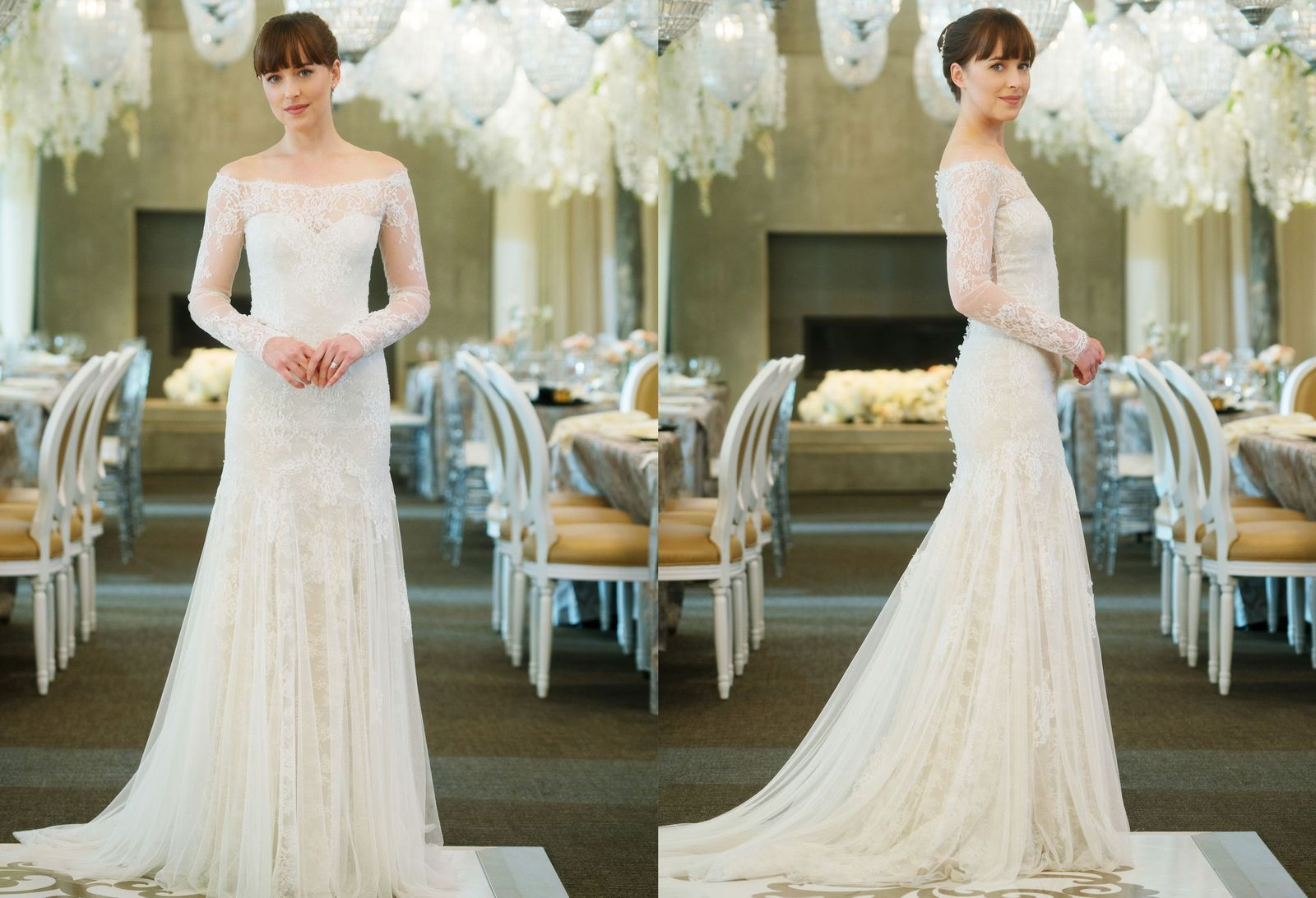 It Took 3 Months To Make The Fifty Shades Freed Wedding Dress Movie Wedding Dresses Dark Wedding Dress Free Wedding Dress