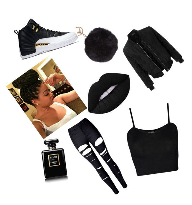 """""""black"""" by omyra88 on Polyvore featuring Chanel, Humble Chic, LE3NO, WearAll and WithChic"""