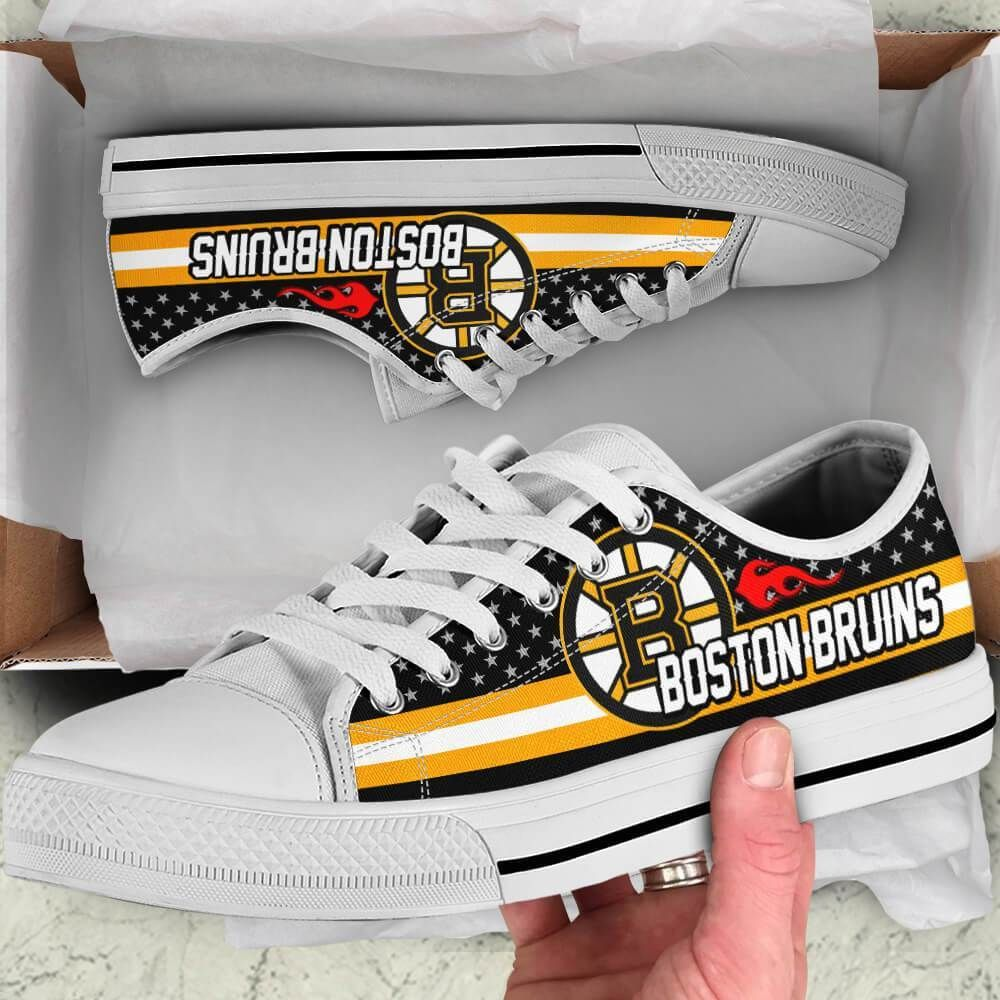 Boston Bruins Legend Since 1924 NHL Hockey Teams Black Low Top Shoes - Snoopy Facts     Shipping me
