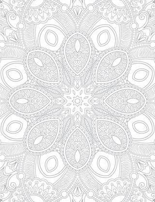 Anti-Stress Patterns Inspirational Abstract Designs to Calm and Relax coloring book
