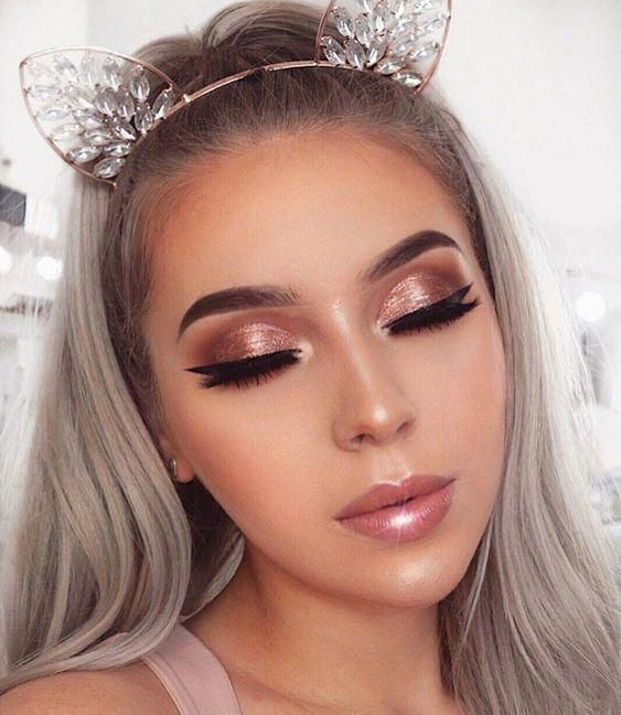 41 Top Rose Gold Makeup Ideas To Look Like a Goddess – Page 20 of 41 – VimDecor #goldmakeup rose