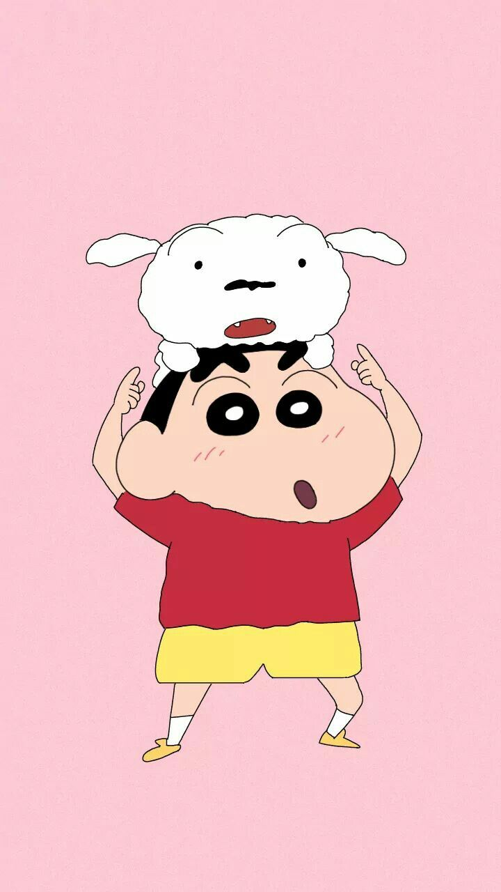 A Cute Dog And A Boy Shin Chan Wallpapers Cute Cartoon Wallpapers Cartoon Wallpaper Iphone