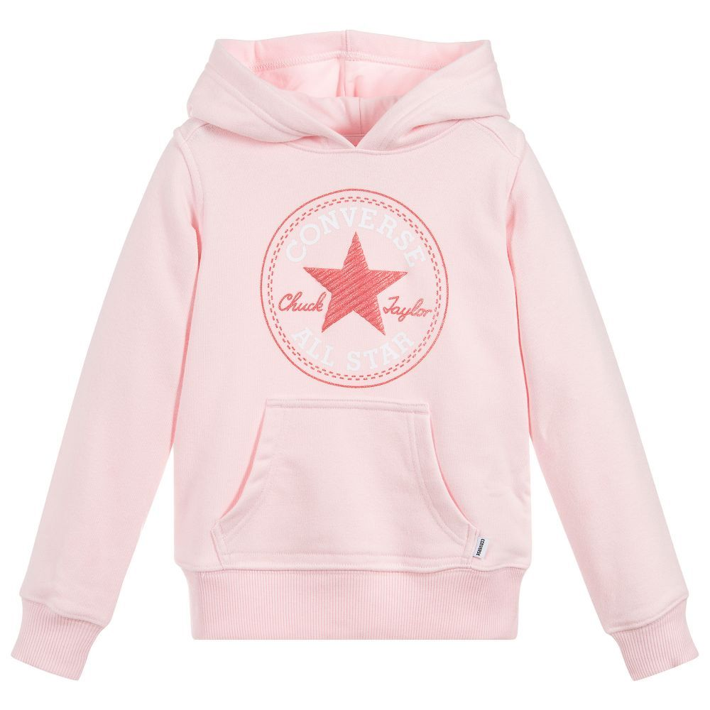 4dcfd6e936c5 Converse - Pink Hooded Logo Sweater