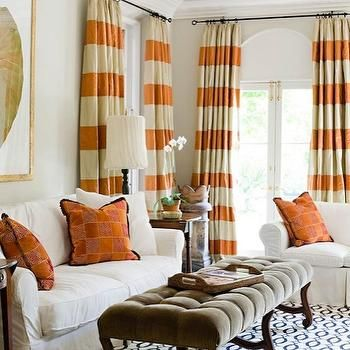 Curtains Designs For Living Room Cool Orange Curtains  Cortinas  Pinterest  Orange Curtains Curtain Decorating Inspiration