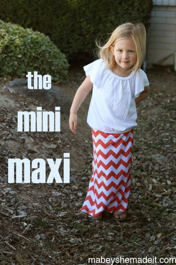 The Mini Maxi Skirt | sewing | Pinterest | Nähen and Mädchen