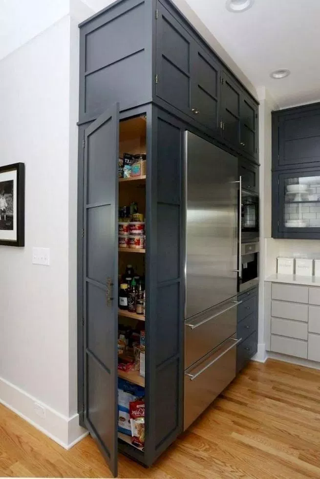 16 Modern Farmhouse Kitchen Cabinet Makeover Design Ideas - Kitchen cabinet organization layout, Kitchen remodel small, Kitchen cabinets makeover, Kitchen style, Refacing kitchen cabinets, Farmhouse style kitchen - 16 Modern Farmhouse Kitchen Cabinet Makeover Design Ideas  Home Design  lmolnar  Best Design and Decoration You Need