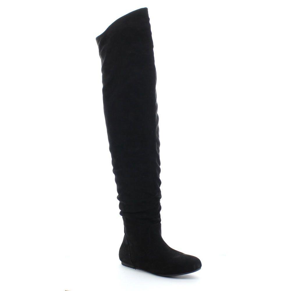 05800849d DA VICCINO TOP-01-HI Women's Slouch Size Zipper Flat Tigh High Boots ...