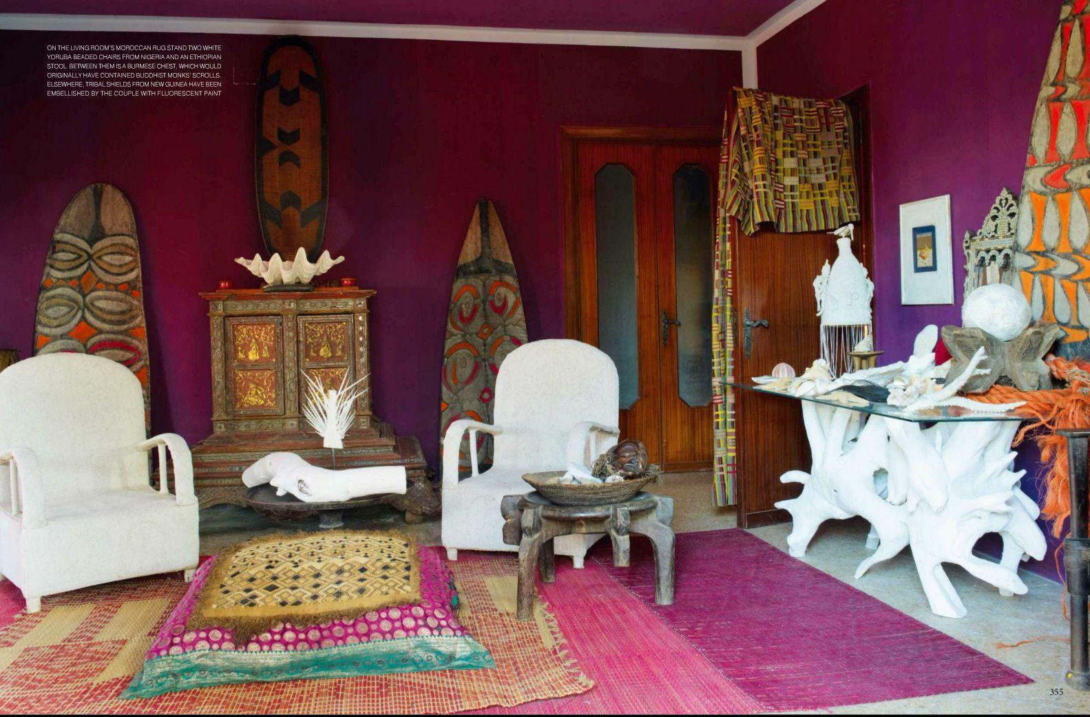 bohemian style living room from british designer liza bruce | my