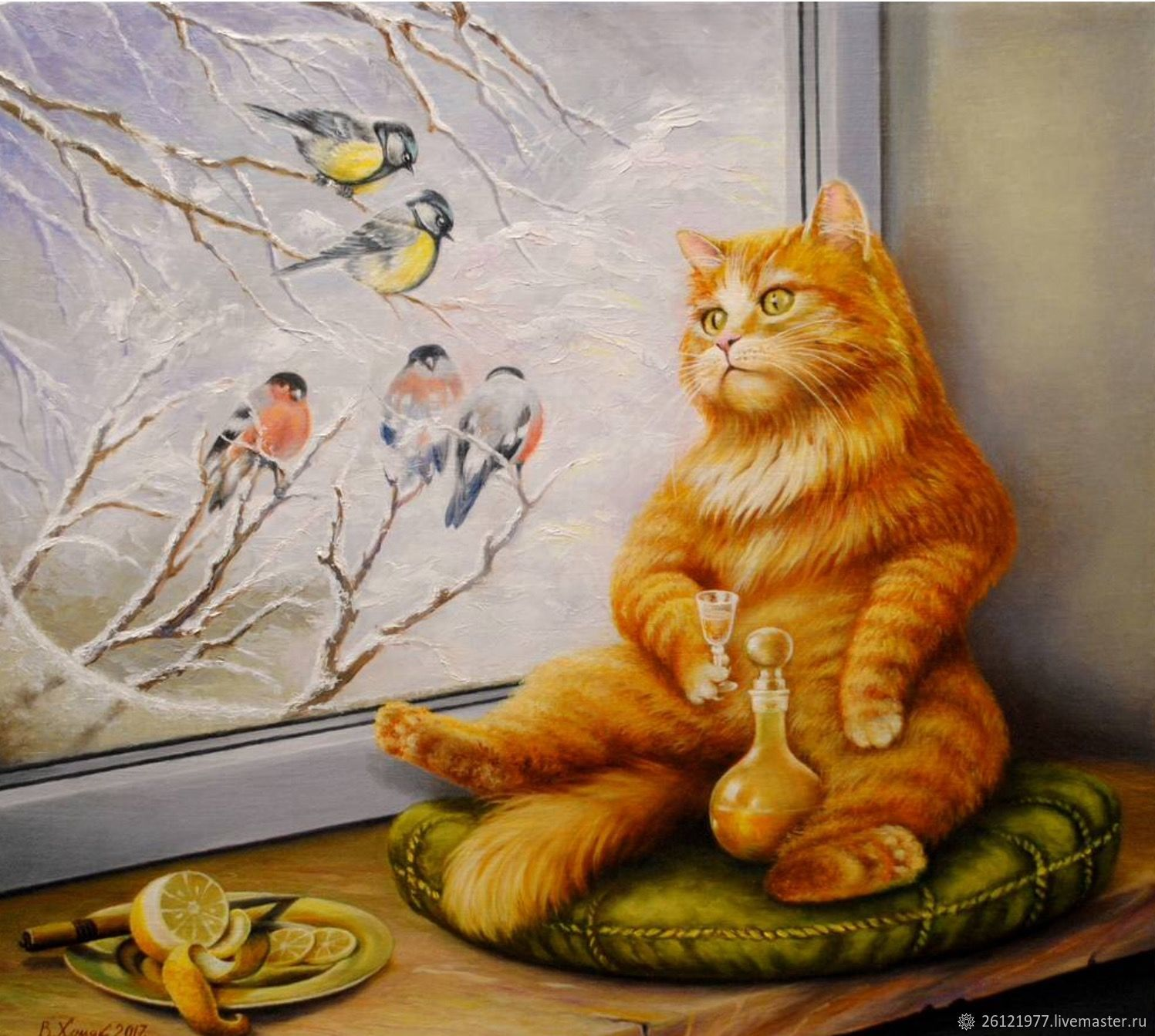 Рыжий кот смешные рисунки, хорошего