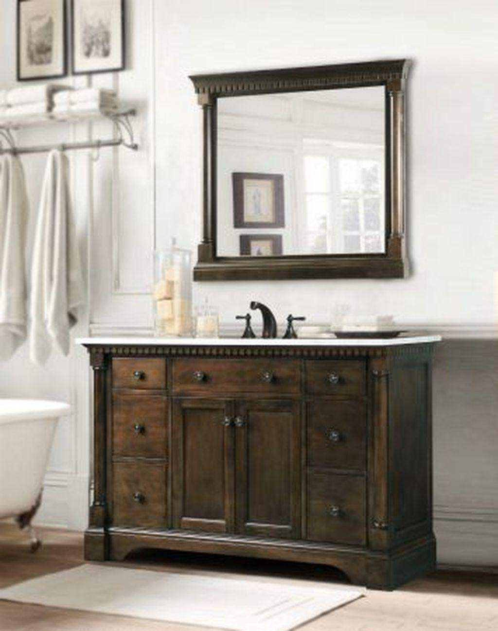 45 Incredible Single Vanity Bathroom Design Ideas To Try Single Sink Bathroom Vanity Bathroom Sink Vanity 36 Bathroom Vanity 45 single sink bathroom vanity