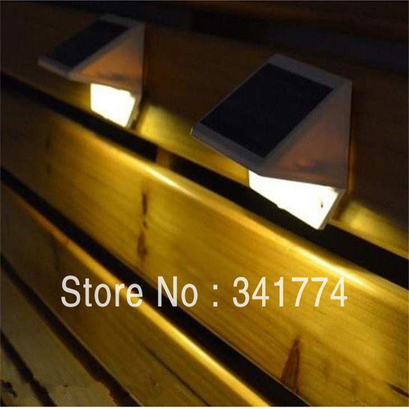 LED Luz De Solar Panel Wand Zaun Lampe strau00dfenlaterne Garten im freien Weihnachtsdekoration De Noel Schritt Treppen Porch Gutter licht