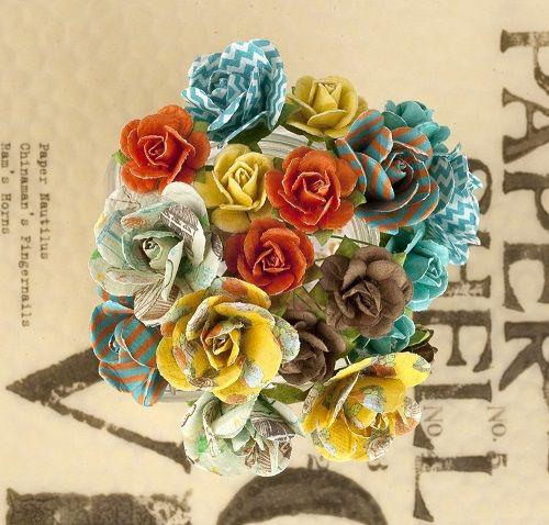 Prima Mini Rose Stems - Lady Bird, The Stamp Simply Ribbon Store