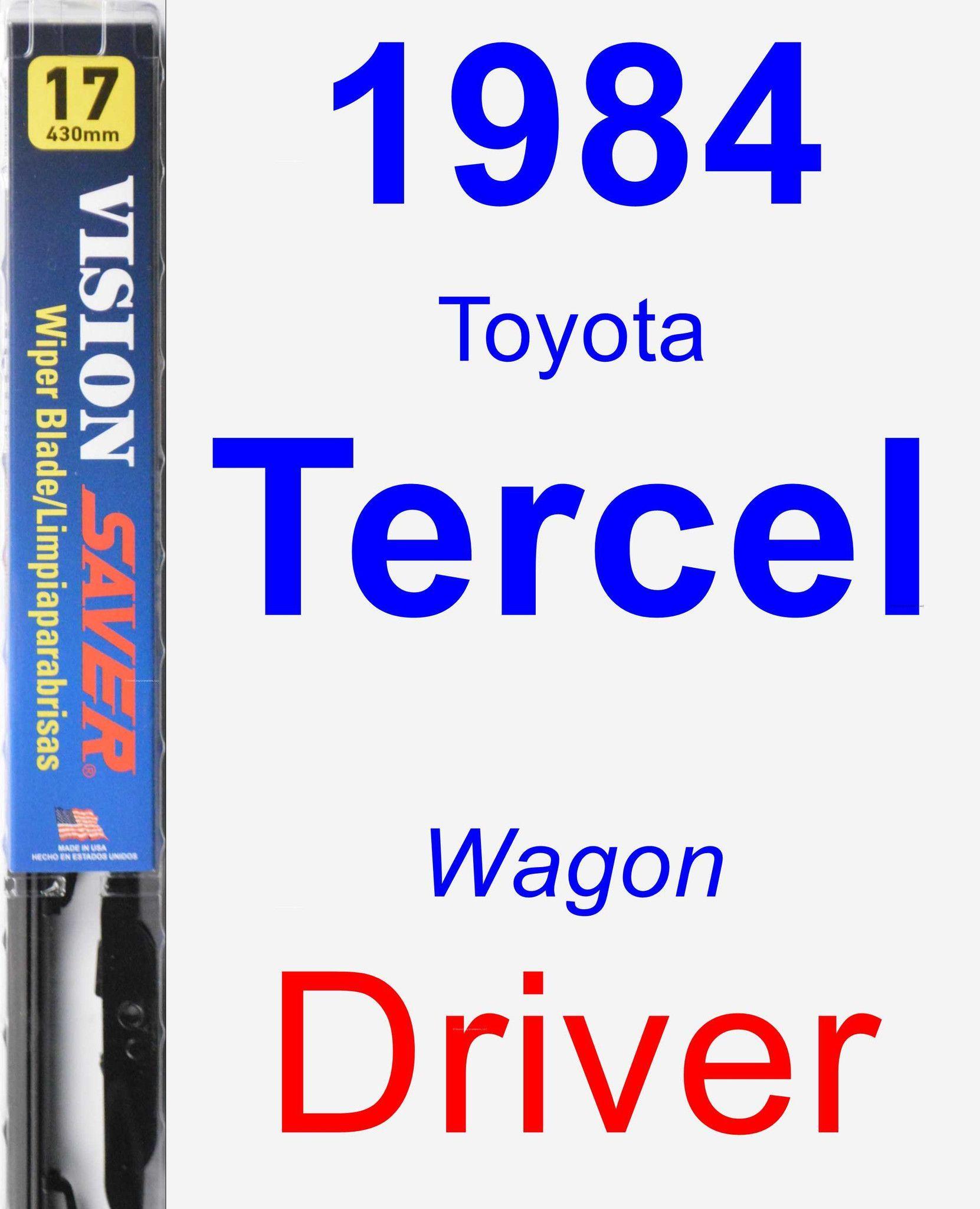 Driver Wiper Blade for 1984 Toyota Tercel - Vision Saver