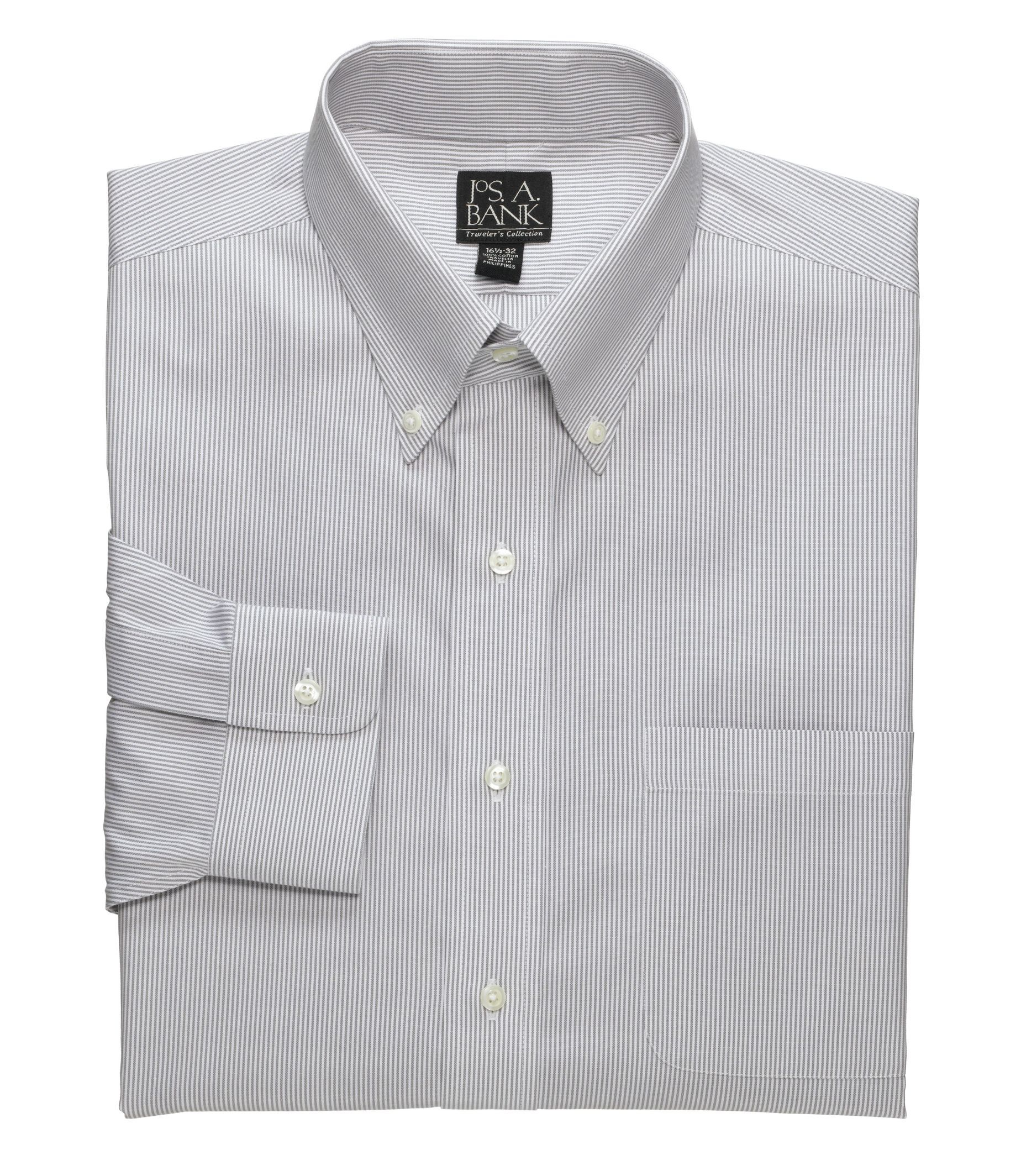 Oxford NY Mens Bengal Stripe Spread Collar