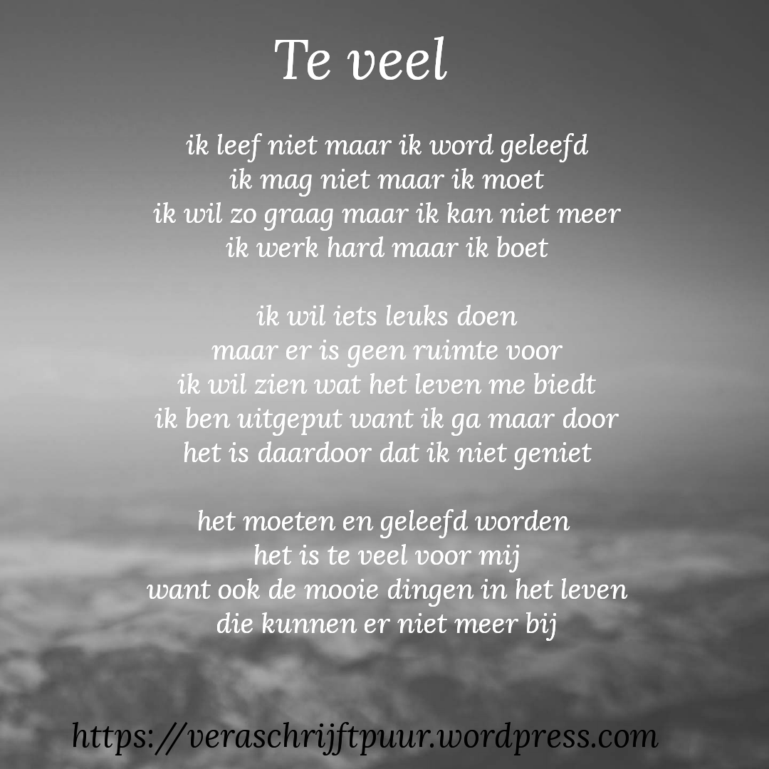 Citaten Ziekte Fb : Te veel poem feelings and qoutes