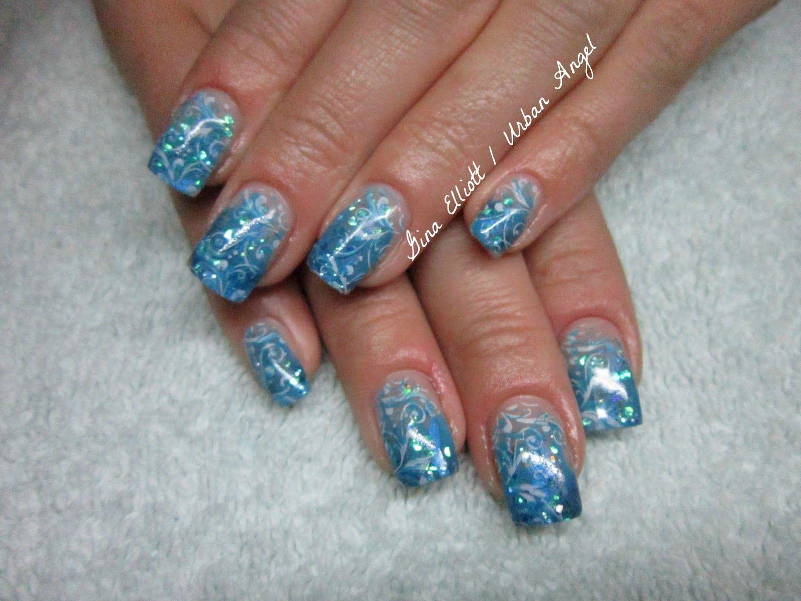 Blue Lagoon - Thermo gel & mica nail design | Urban Angel Nail ...