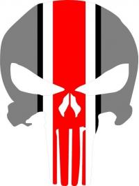 Set of 2 Ohio State Punisher Decal Set Ohio State Buckeyes Large 10 inches