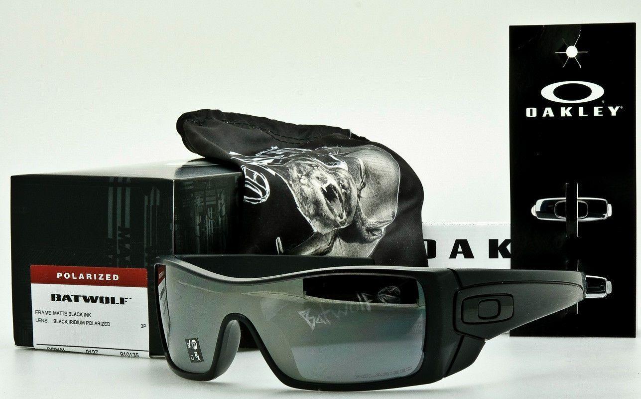 379ed495a0 OAKLEY BATWOLF POLARIZED Matte Black Ink-Blk Iridium Polar OO9101-35 AUTHENTIC  Matte Black
