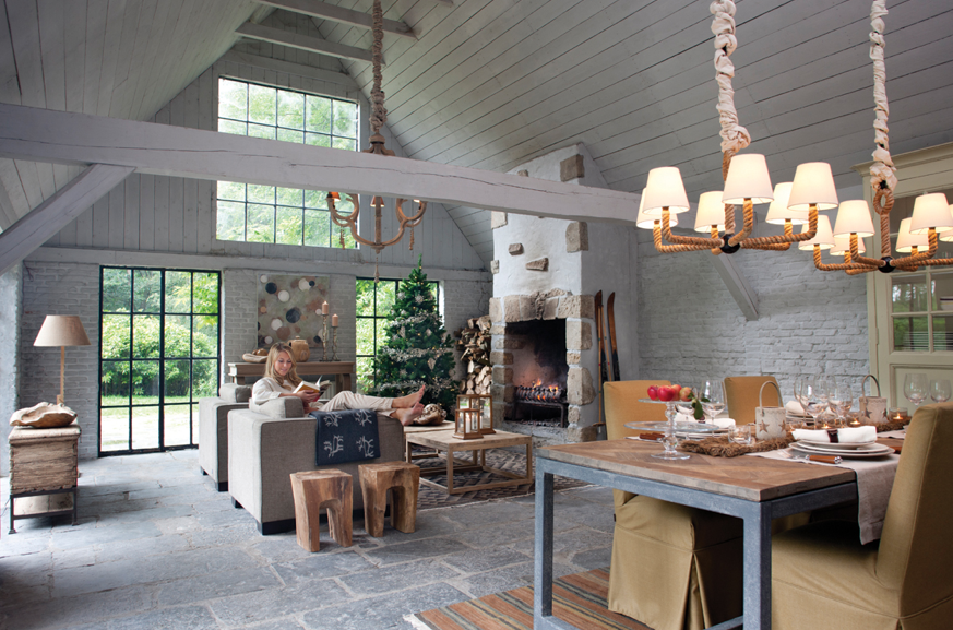 Landelijke flamant stijl interieur home interior