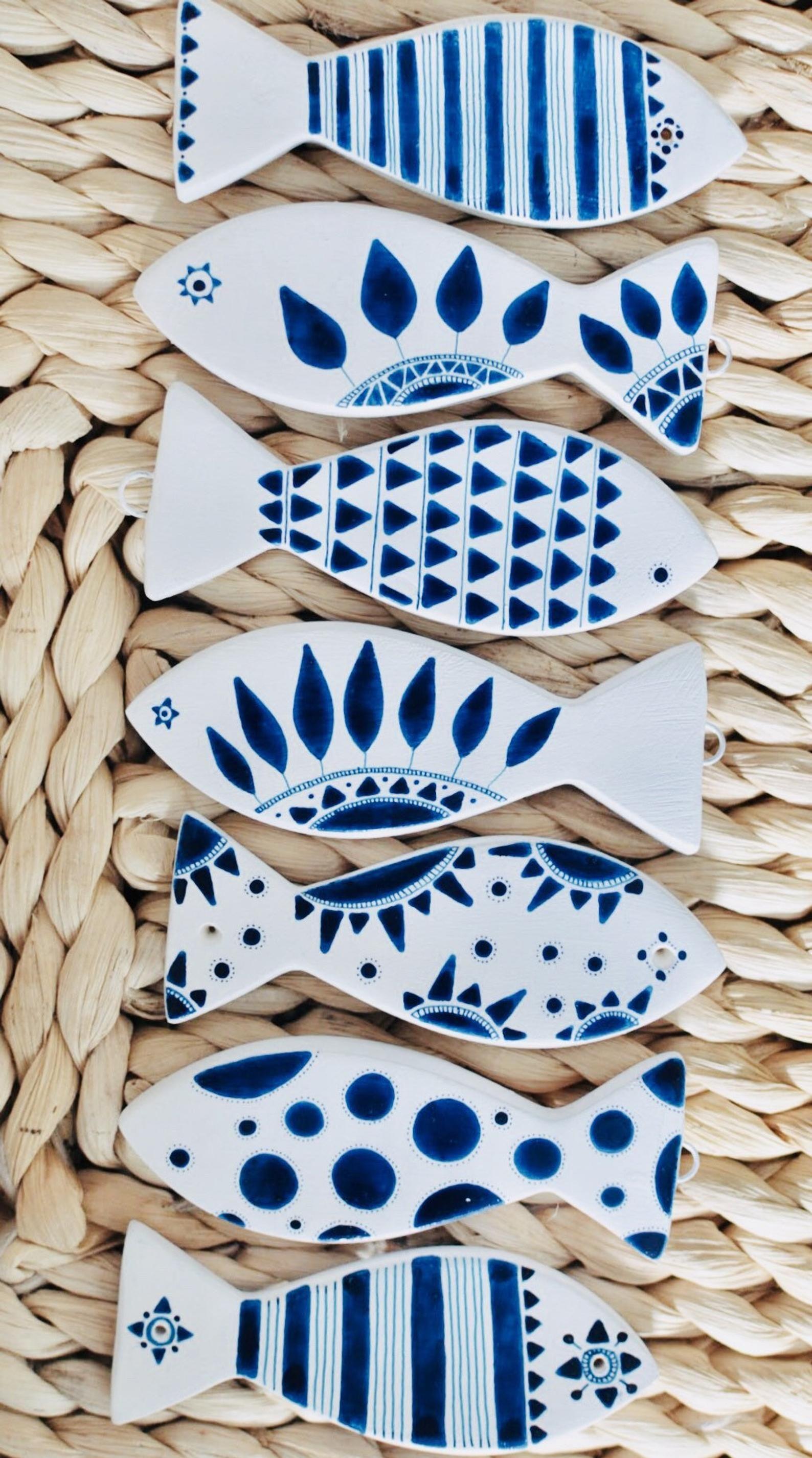 Souvenir de poisson en céramique douche baptême et bébé