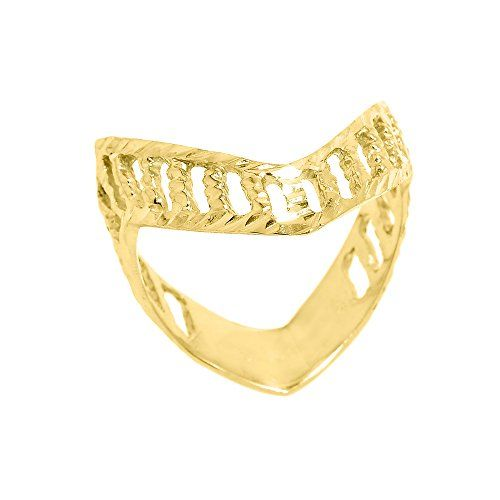 Polished 14k Yellow Gold Open Design Band Thumb Ring Size 9