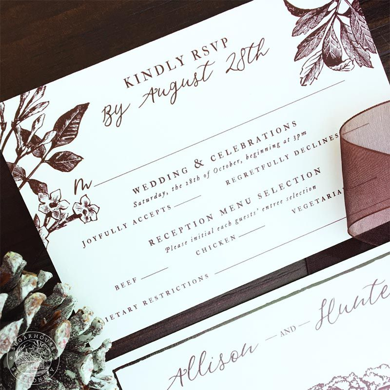 Easton grade a invitation suite stationery designs inspired by wedding invitation design company specializing in invitation suites save the dates day of pieces and custom stationery design services stopboris Images
