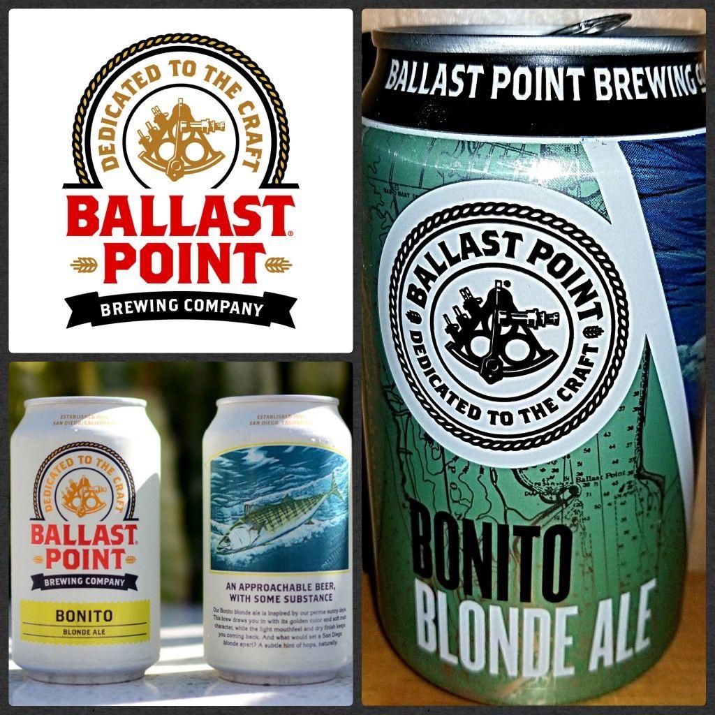 1088 Bonita Blonde Ale Ballast Point Brewing San Diego Ca