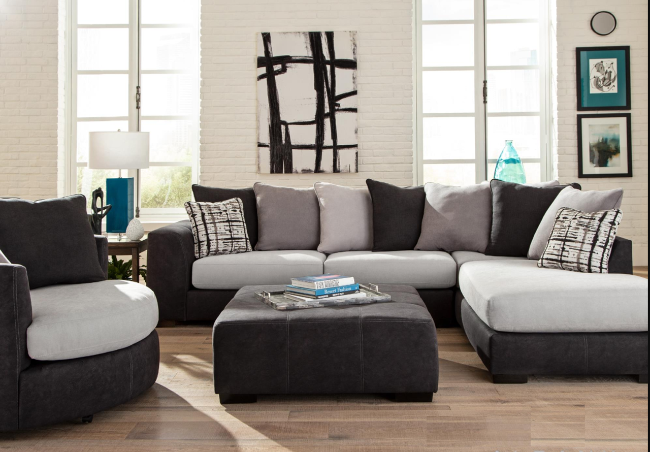 Albany 448 Discovery Black Sectional Sofa Savvy Discount Furniture Sectional Sofa Sectional Sofas Living Room Sectional