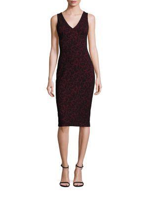 MICHAEL MICHAEL KORS Floral-Embossed Sheath Dress. #michaelmichaelkors #cloth #dress