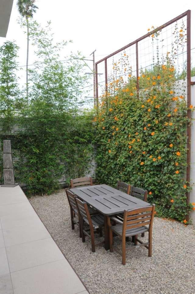 TerrassenSichtschutz mit Pflanzen Neugierige Blicke