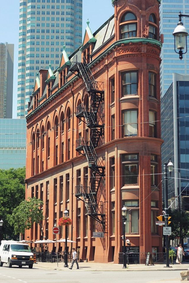 The Flatiron Building in Toronto - near the St. Lawrence Market. Canada..