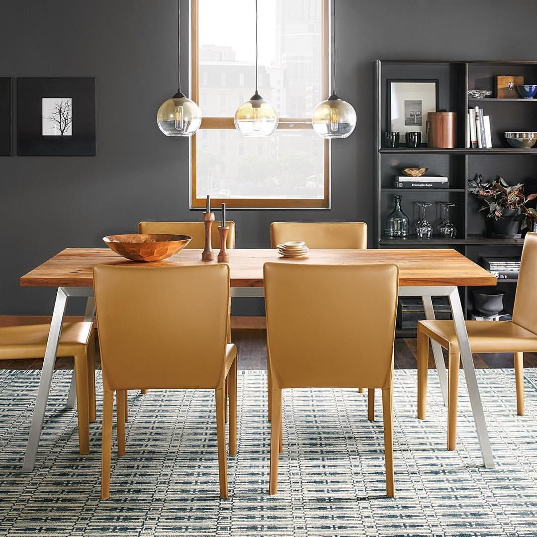 Room board on instagram our new cass modern dining table features a mix of materials for timeless appeal roomandboard moderndining americanmade