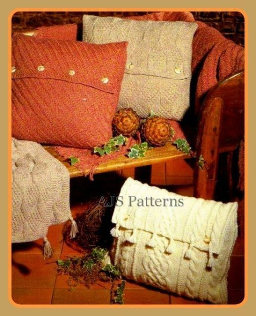 PDF Knitting Pattern For Cottage Chic Aran por TheKnittingSheep ...