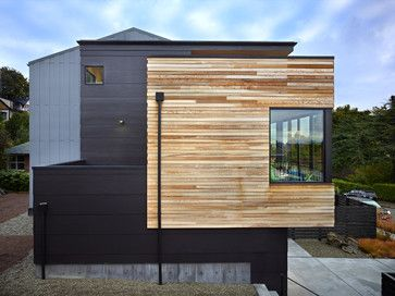 Smooth Black Fiber Cement Siding Looks Great Hardiplank Modern Exterior Architecture Architect