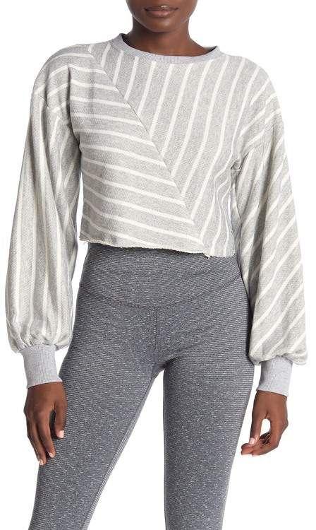 Maaji   Strike Stripe Graphite Cropped Sweater   Nordstrom Rack #nordstromrack