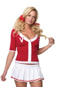 Varsity Cheerleader Halloween Costume too cute!  sc 1 st  Pinterest & Varsity Cheerleader Halloween Costume too cute!   Cheerleader ...