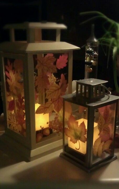 Dollar store $100 window clings on clearance lanterns, with LED - halloween window clings