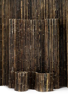 insidewired black bamboo fences