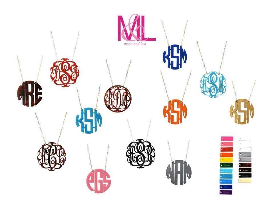 Monogram necklaces.  Cute!