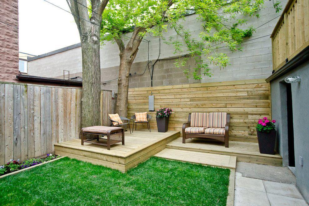 Split level backyard ideas pool traditional with stone ... on Split Level Backyard Ideas id=22547