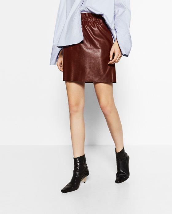 image 2 de mini jupe en simili cuir de zara wishliiiiiist le retour pinterest simili. Black Bedroom Furniture Sets. Home Design Ideas