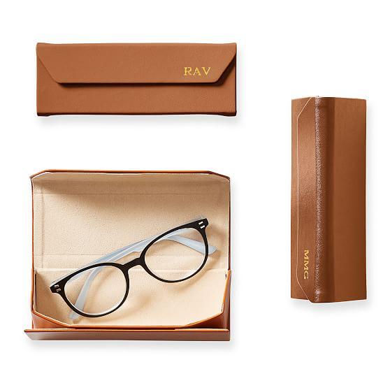 Collapsible Eyeglass Case Eyeglass Case Eyeglasses Stylish Leather Clutch