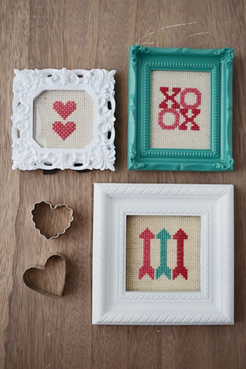 Cross Stitch: Sharp Valentine\'s Day Trends | Punto de cruz, Puntos y ...
