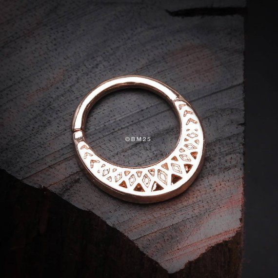8014fe7ac Rose Gold Ceres Filigree Septum Twist Loop Ring | Wishlist ...
