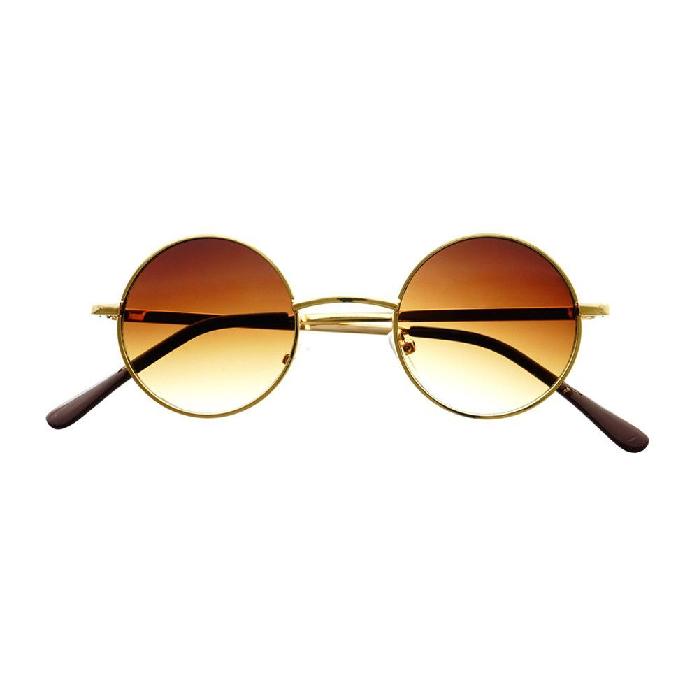 Celebrity Retro Vintage Style Small Metal Circle Round Sunglasses R2850
