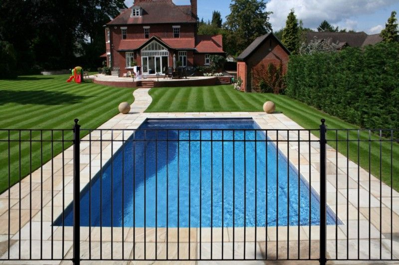 Suspended Medium Wrought Iron Pool Fence Cheap Pool Wrought Iron Fences