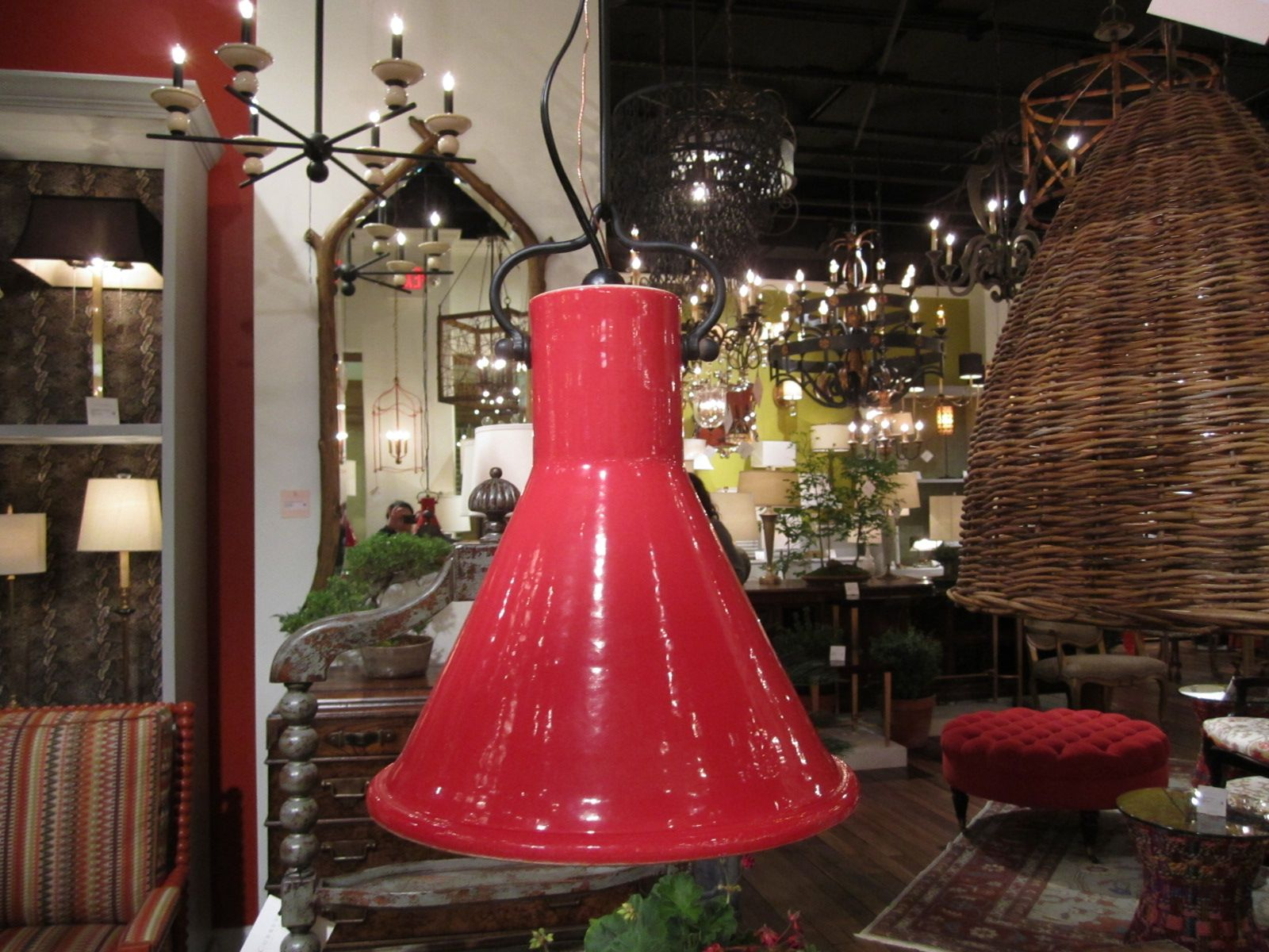 Fire Engine Red Pendant Light From Curry Co Via Stylebeat
