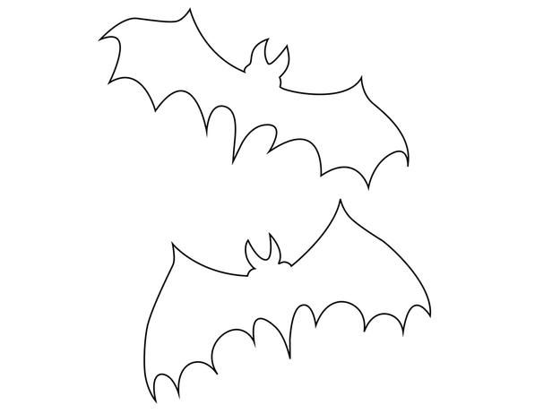 bat template flying bats templates and black and white striped paper free printable - Free Halloween Templates